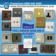 Varilight 3 Gang 1 or 2 Way 3x400W Push on/off Dimmer Light Switch Victorian Brass HV33